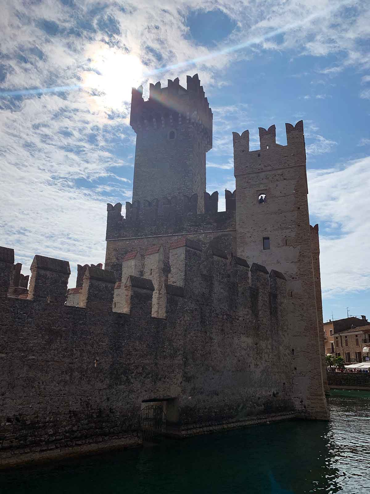 Sirmione Castle on Lake Garda in Italy
