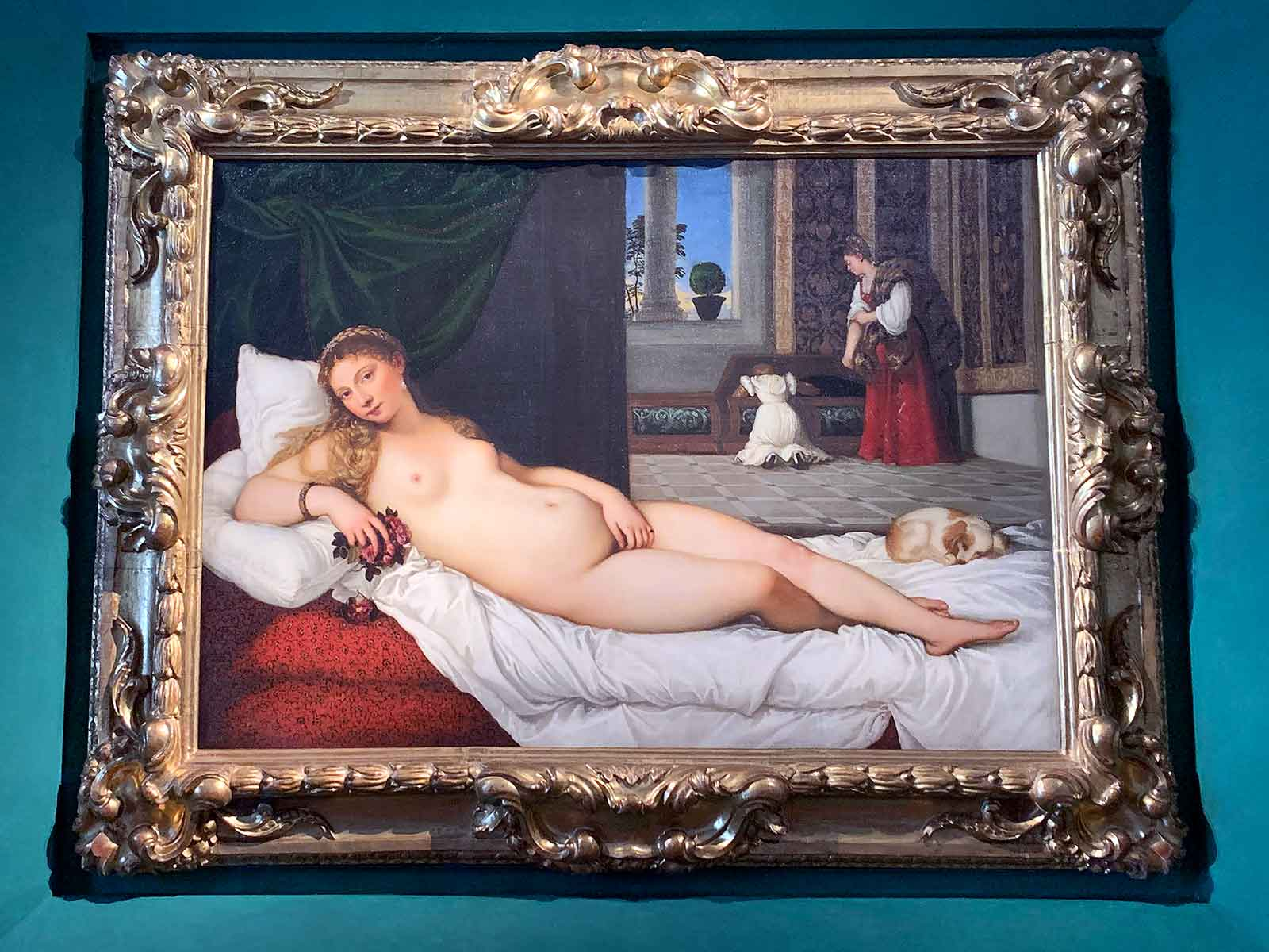 Venus of Urbino painting by Titian in the Uffizi