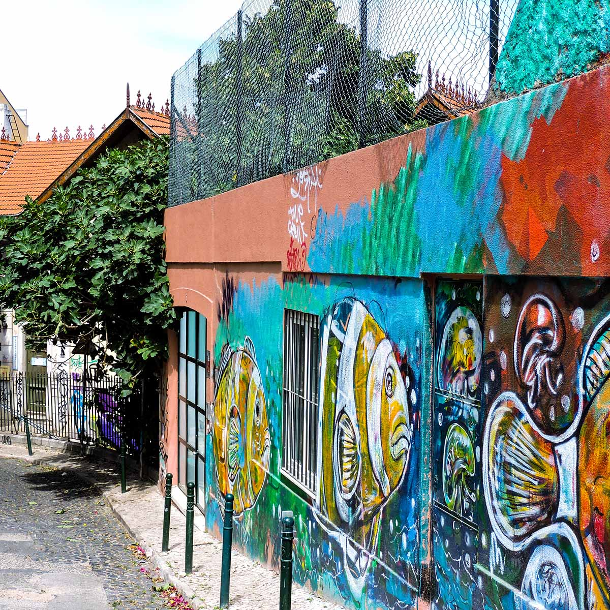 Colorful Bairro Alto street
