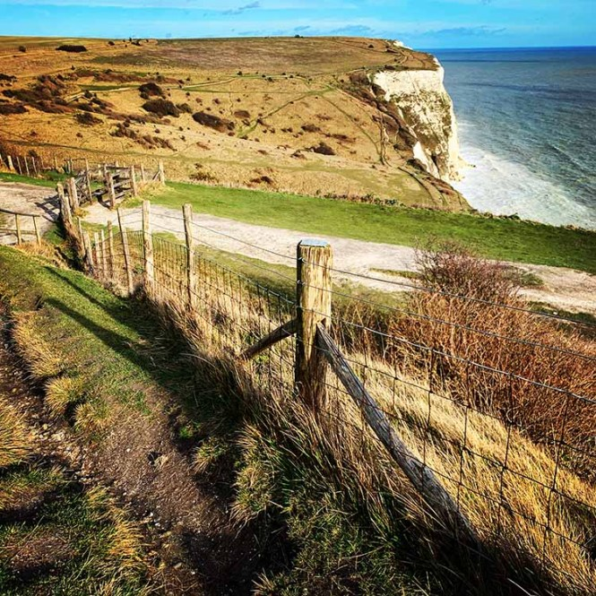 White Cliffs of Dover on our UK road trip