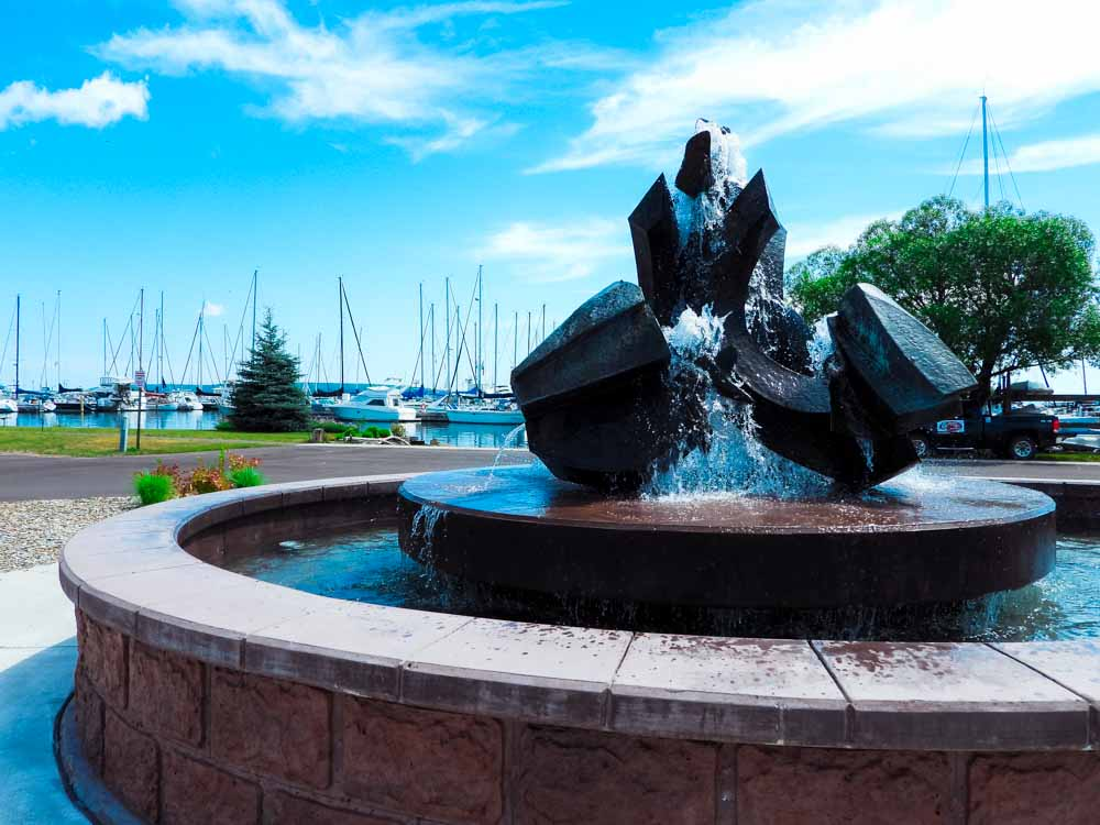Fountain in Bayfield, Wisconsin