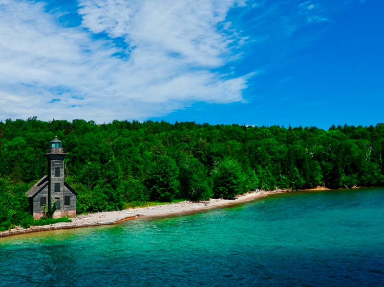 East Channel Lighthouse on Lake Superior