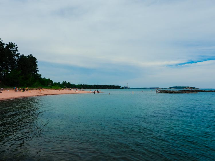 Lake Superior beach in Marquette, Michigan
