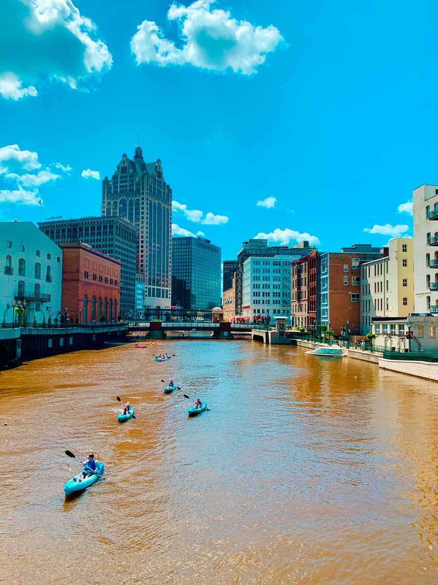 Kayakers in Milwaukee