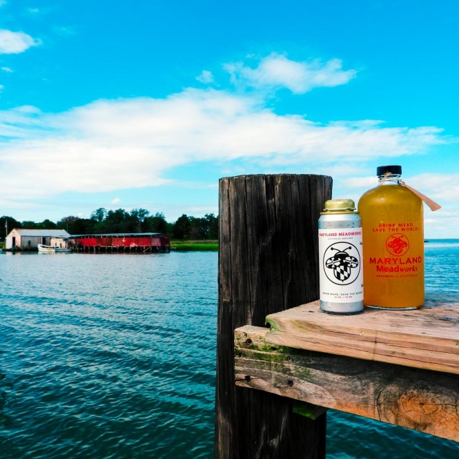 "Maryland Meadworks on a pier for ""What Is Mead, Anyway?"""