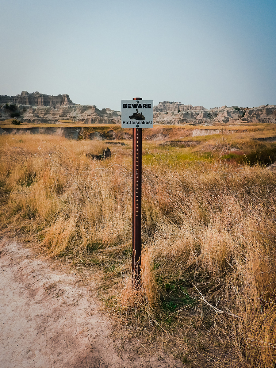 Badlands rattlesnake sign