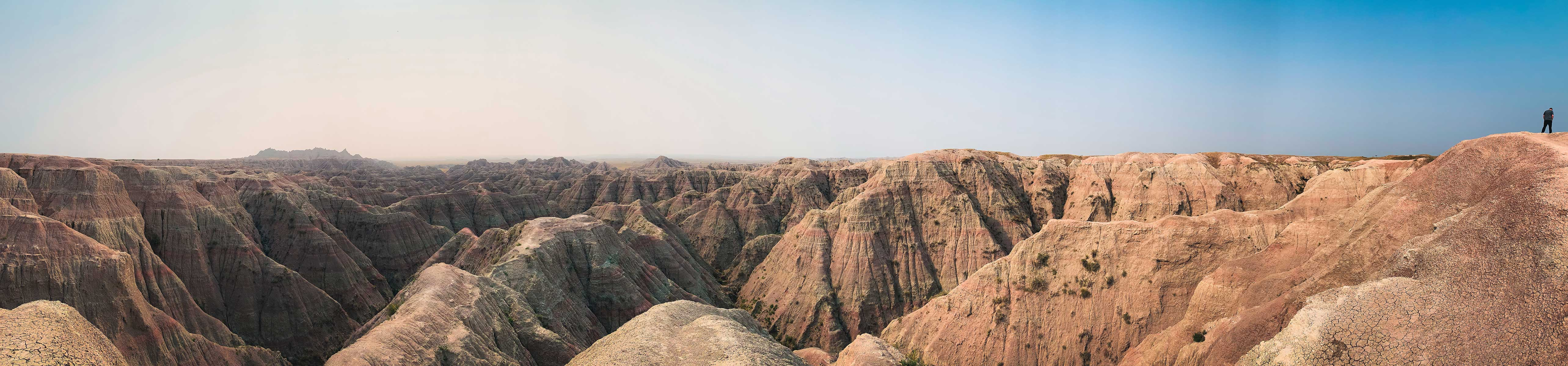 Panoramic of the Badlands