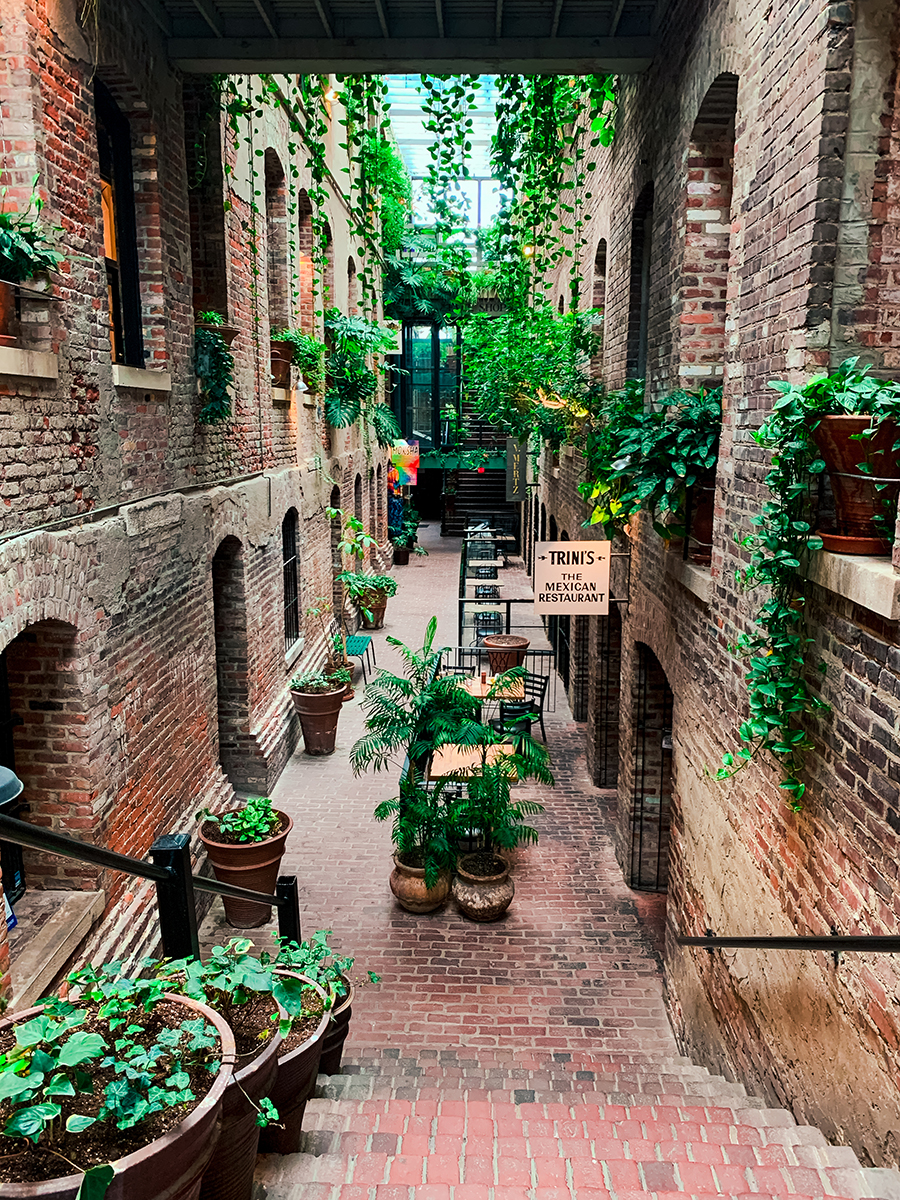 Old Market Passageway in Omaha, Nebraska