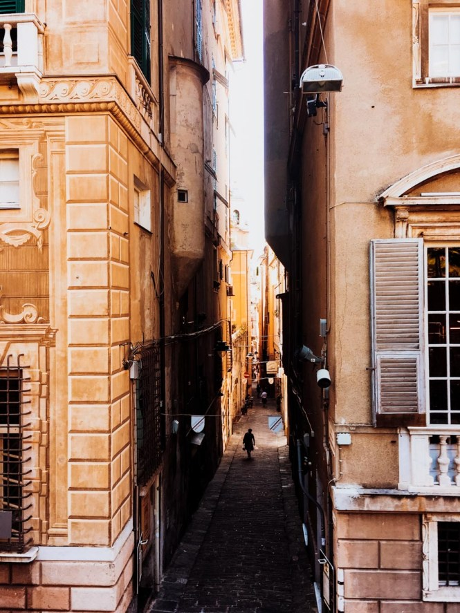 Alleyway in Genoa, Italy