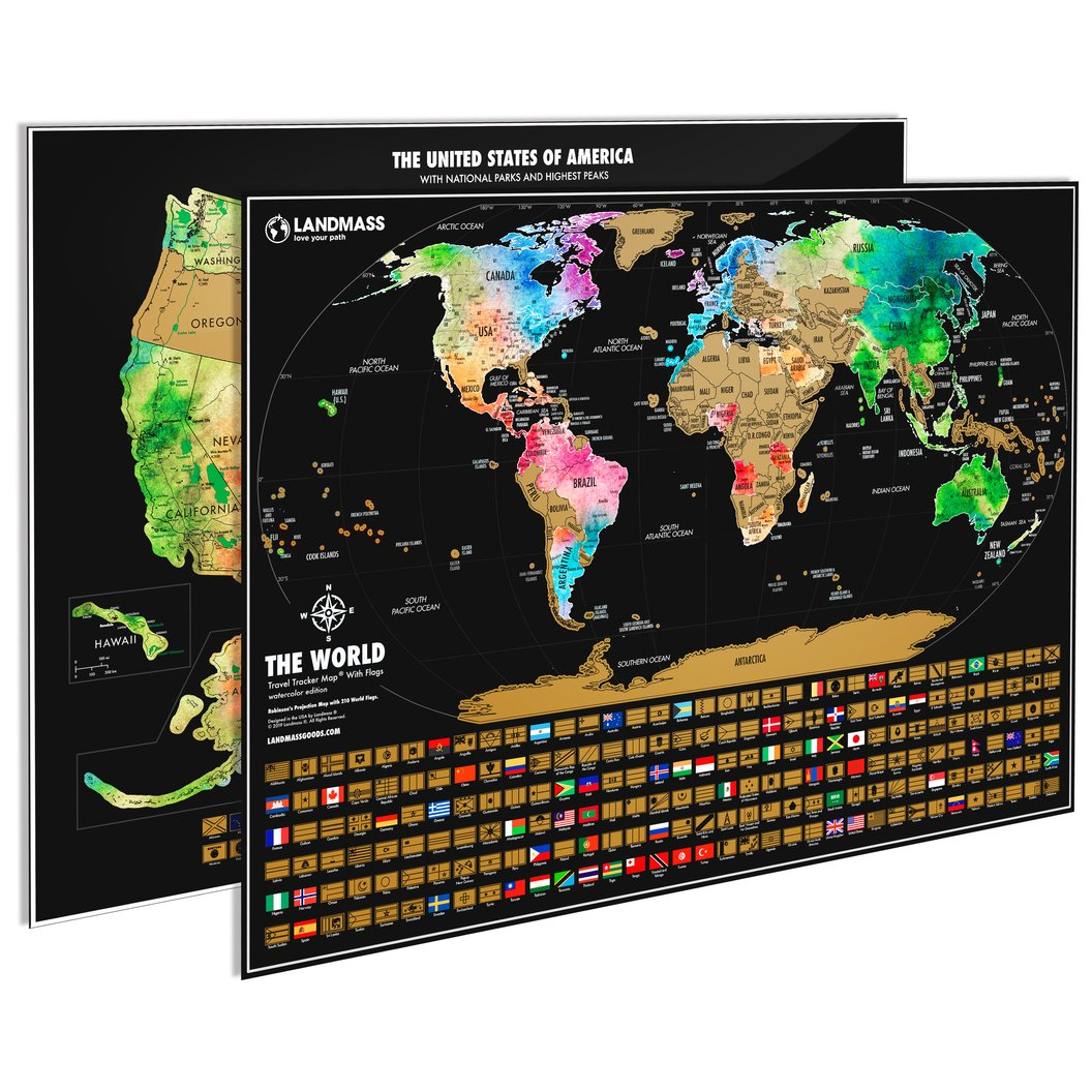 Two Landmass travel maps