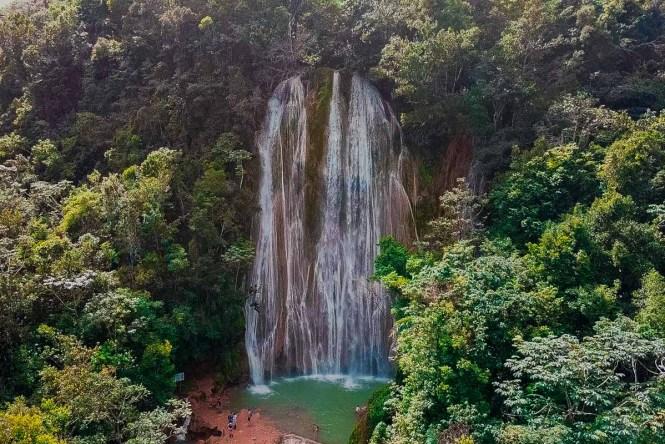 El Limon waterfall in Dominican Republican