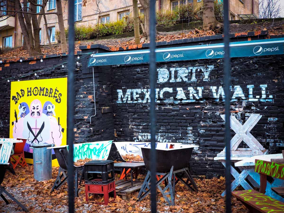 Bad Hombres street art in Vilnius