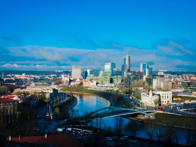 Modern Vilnius lookout