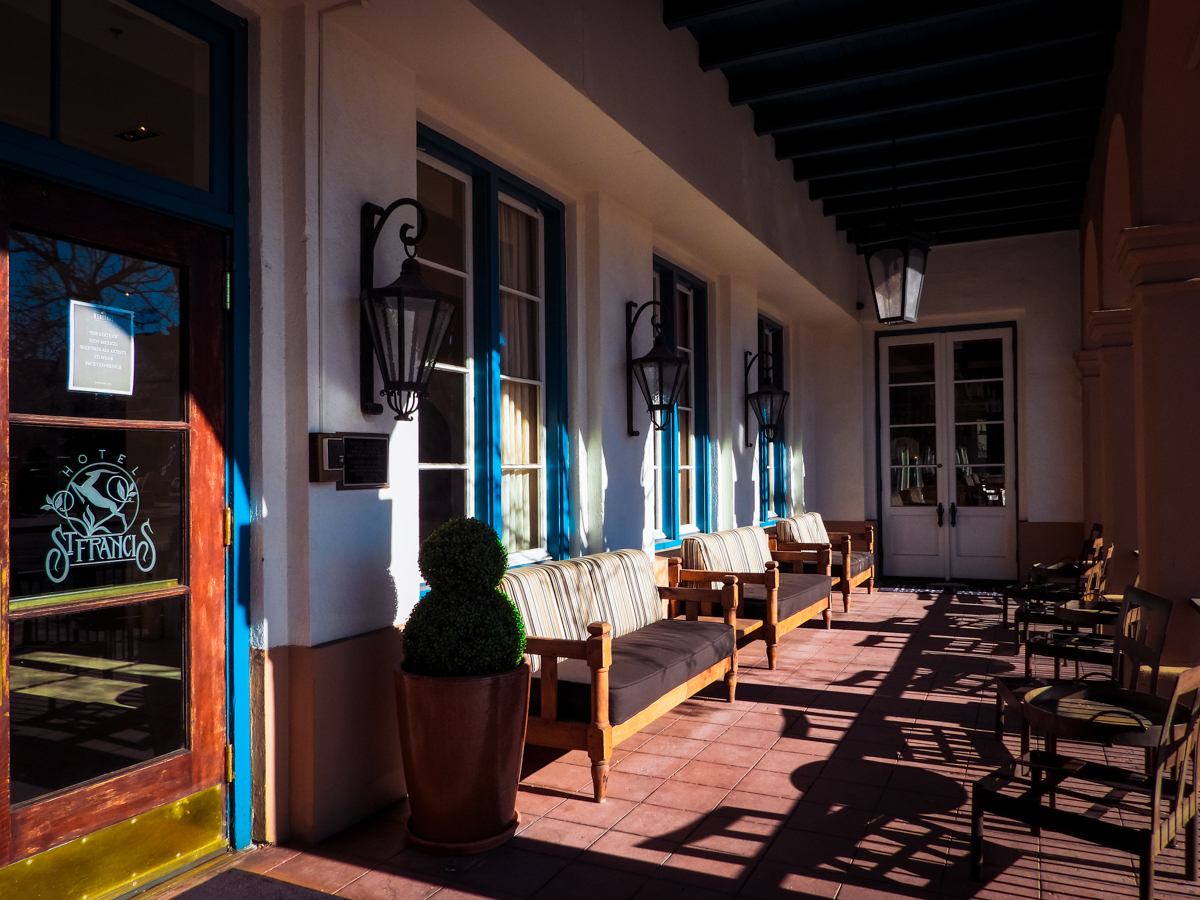 Front porch of Hotel St Francis