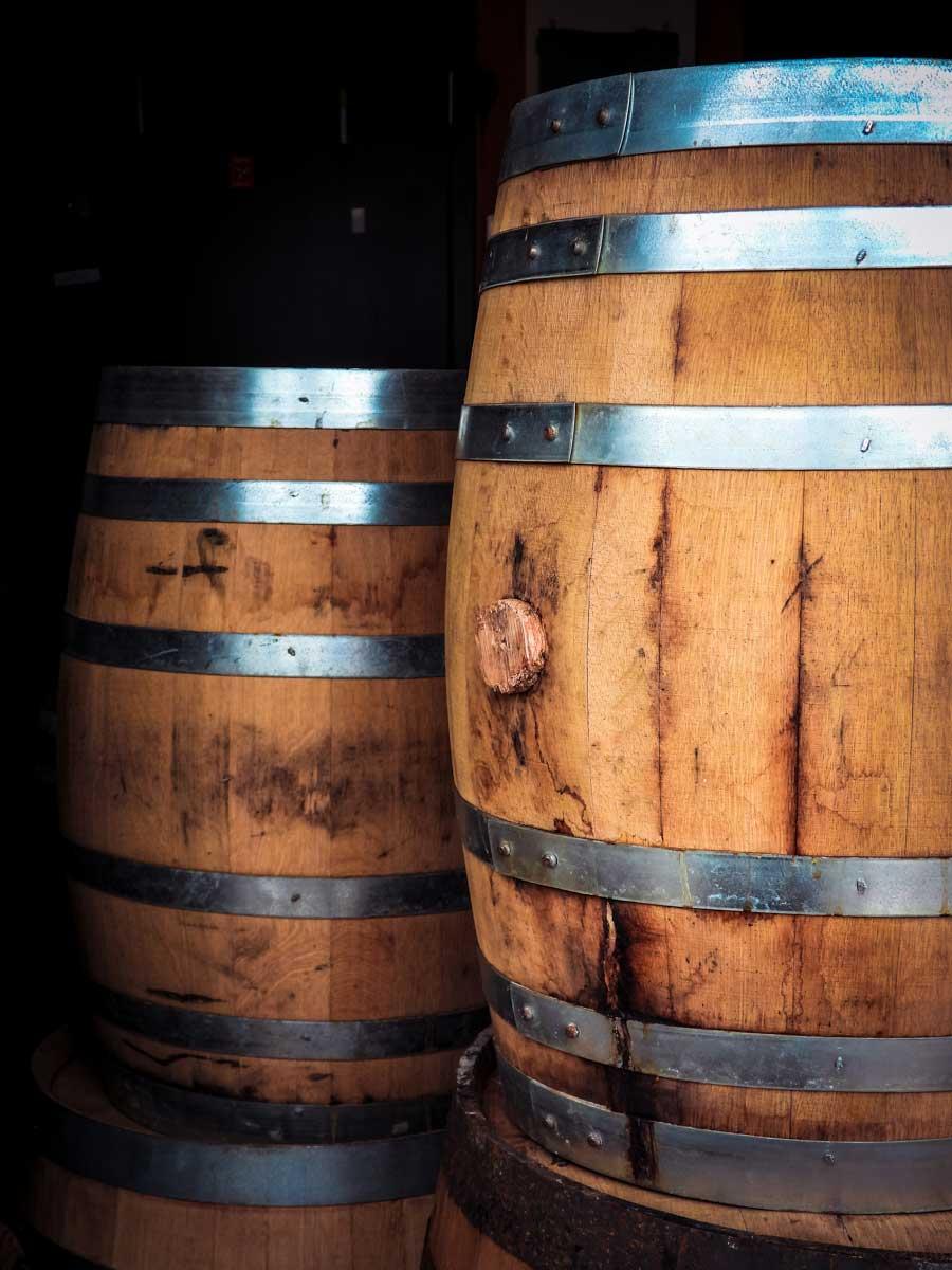 H Clark Distillery barrells
