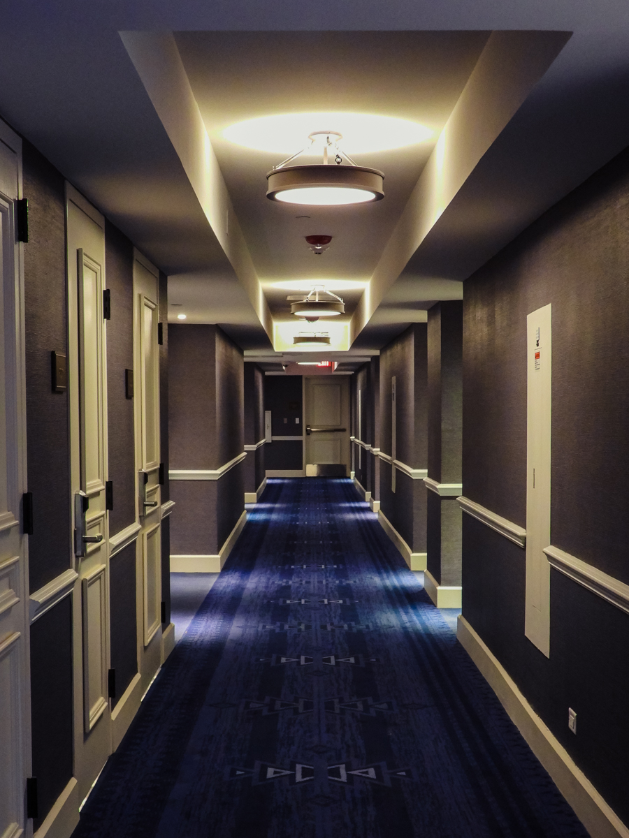 The hallway of Hotel Paso Del Norte, the best of the best hotels in El Paso, TX