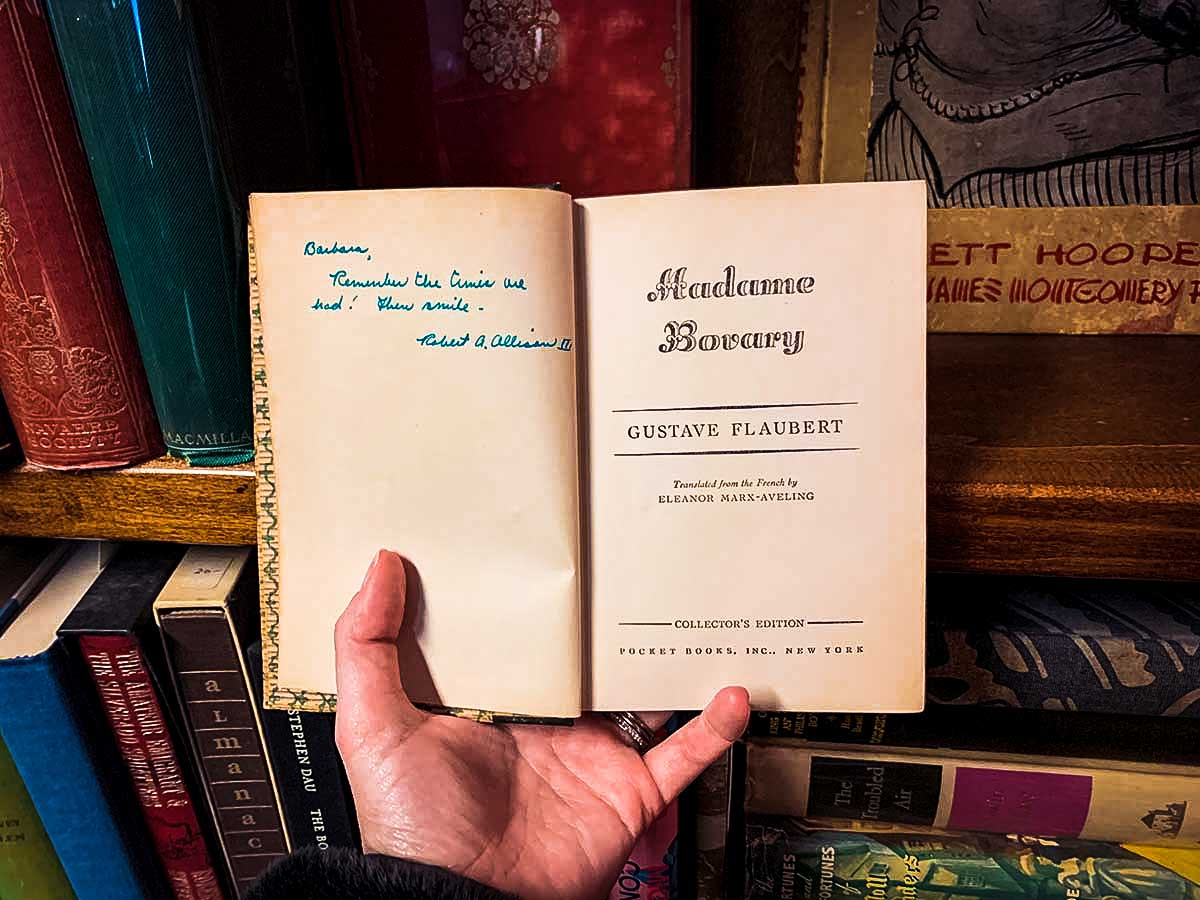 Scandalous note in Landmark Booksellers Madame Bovary