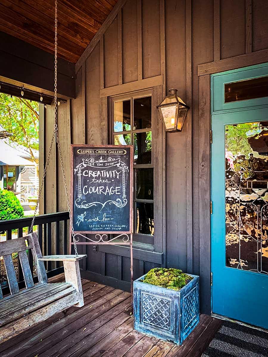 Leiper's Creek Gallery porch