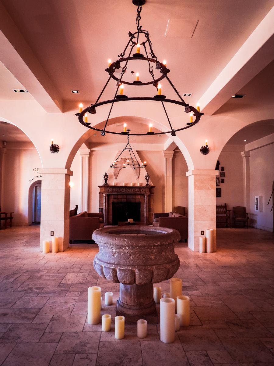 Lobby of St Francis Hotel in Santa Fe