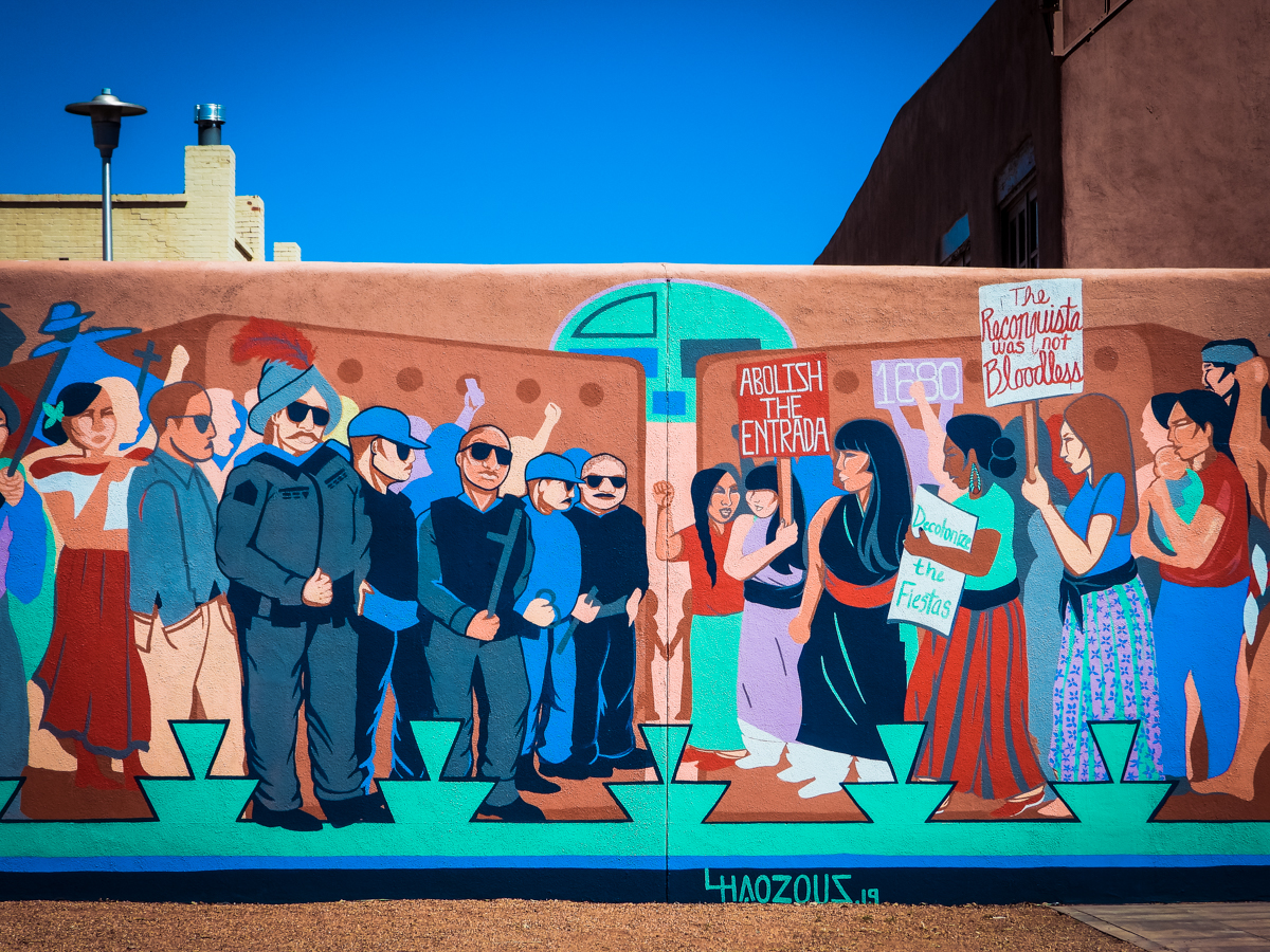 Mural in downtown Santa Fe