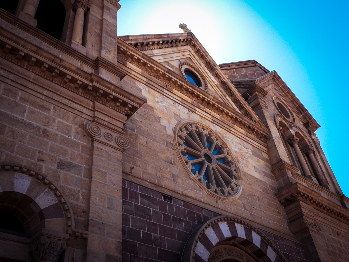 St. Francis Cathedral in old town Santa Fe