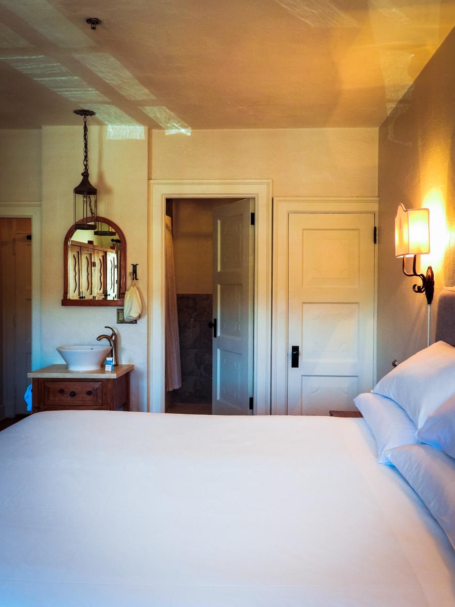 Sunlit room in St Francis Hotel in Santa Fe