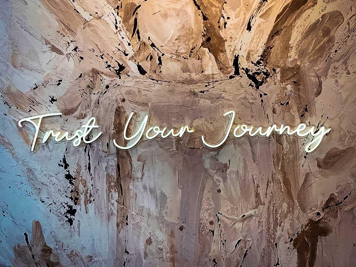 Trust Your Journey neon at Deann Designs in Franklin, TN