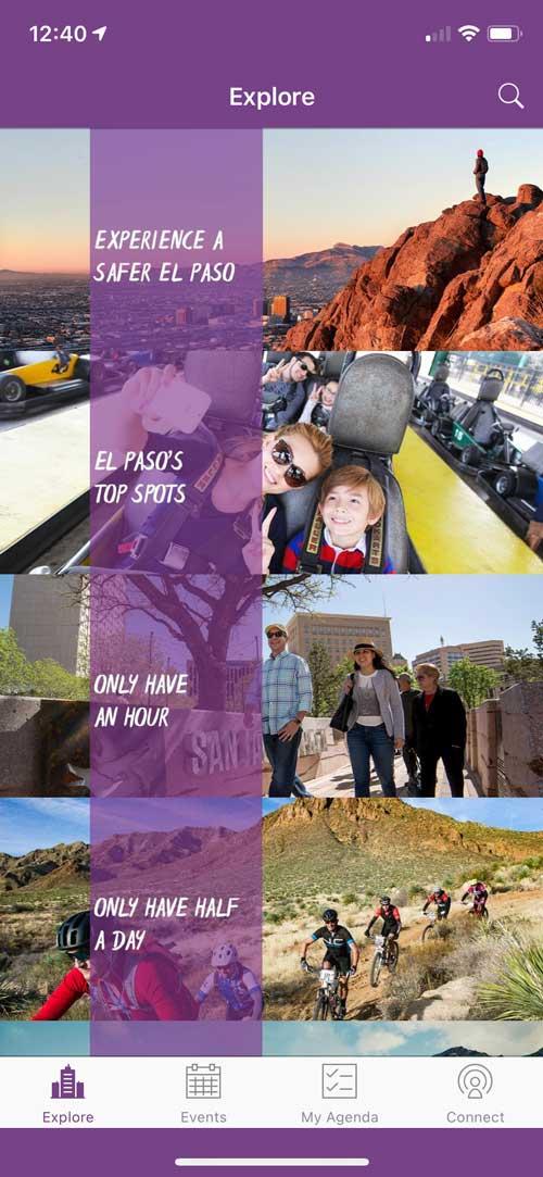 Visit El Paso App Explore page