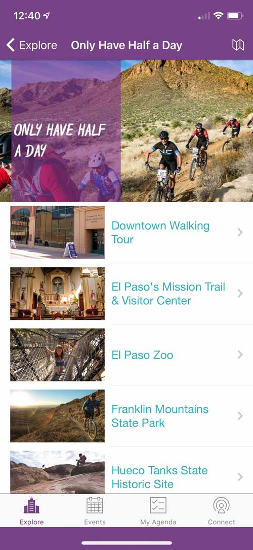 Visit El Paso App Half Day Ideas