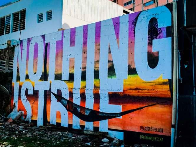 """""""nothing is true"""" mural"""
