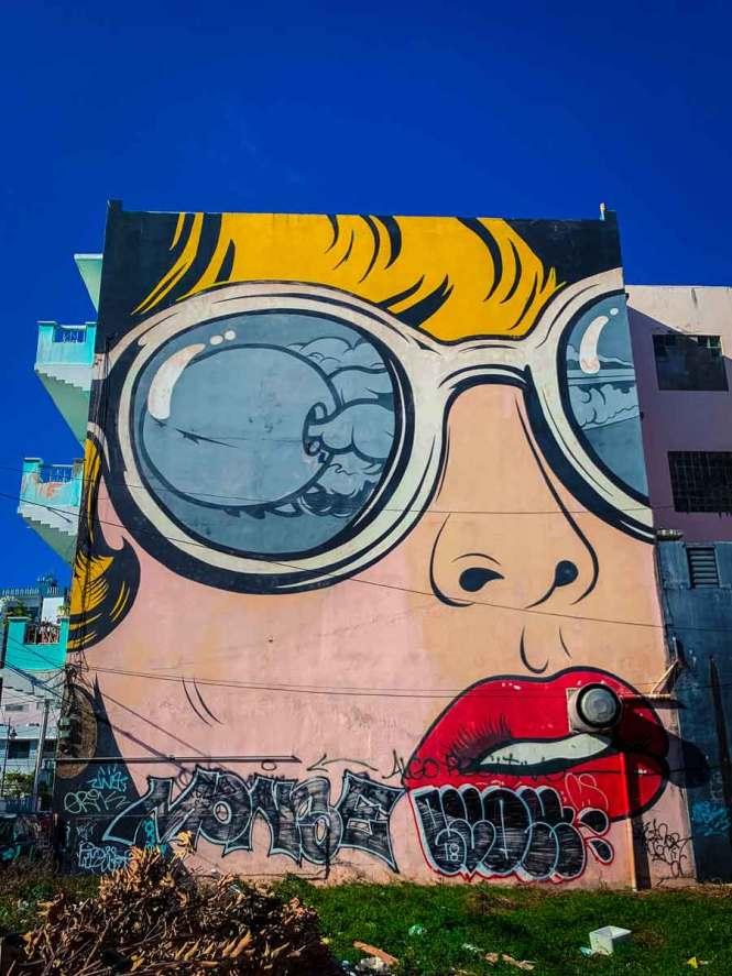 santurce street art pop art woman