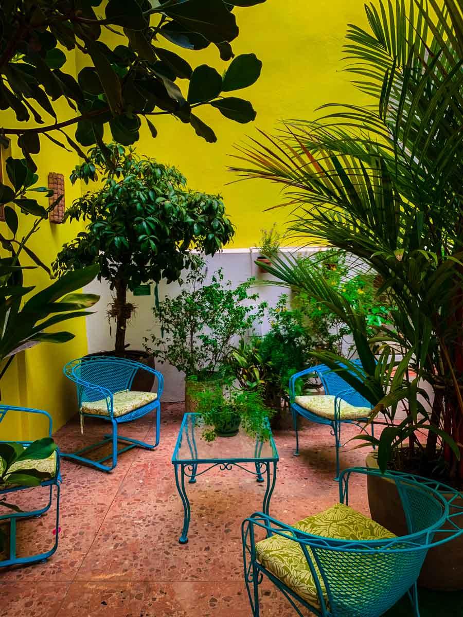 Casa Sol B&B in Old San Juan, atrium