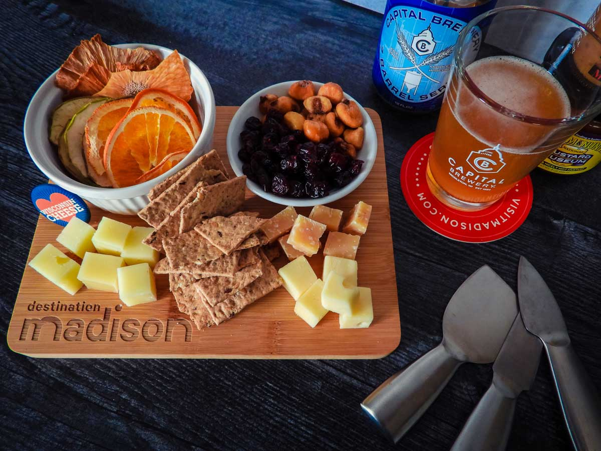 another shot of my awesome cheese board