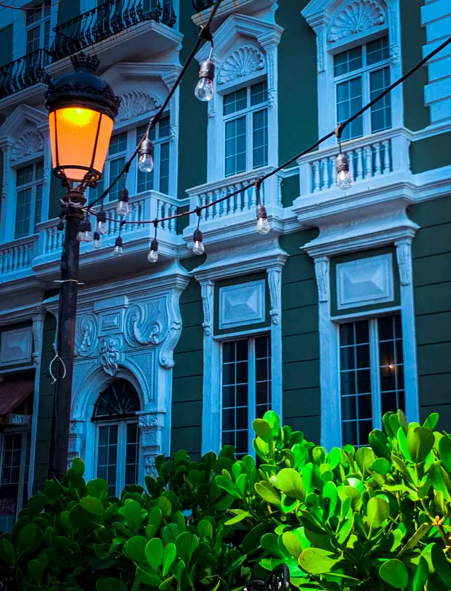 street lamp in old san juan
