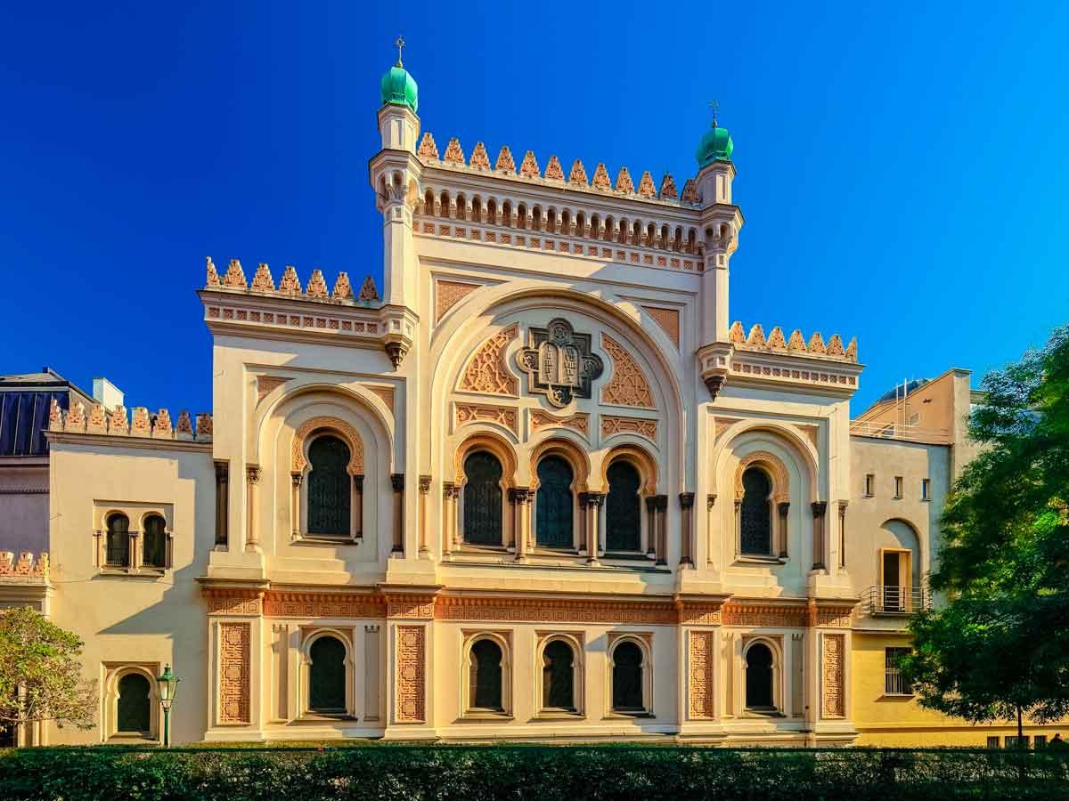 Spanish Synagogue exterior in Prague's Jewish Quarter
