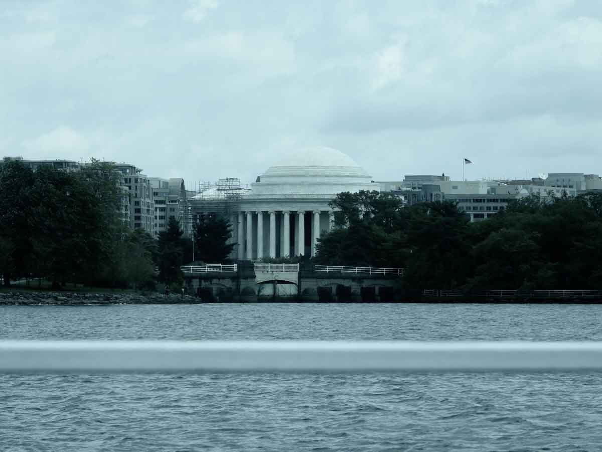 the jefferson memorial from our brunch in dc