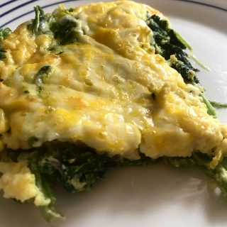 cheese spinach egg casserole
