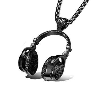 PAURO Men's Stainless Steel Music Headset DJ Headphone