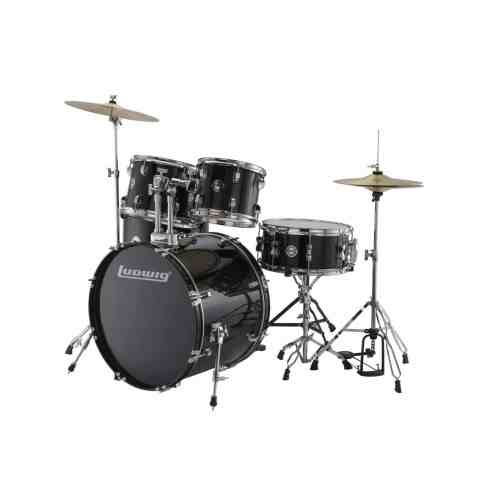 Ludwig Accent Drive Black 5-Piece Drum Set