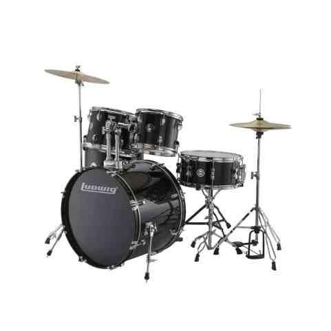 Ludwig Accent Drive Black 5-Piece Drum Set