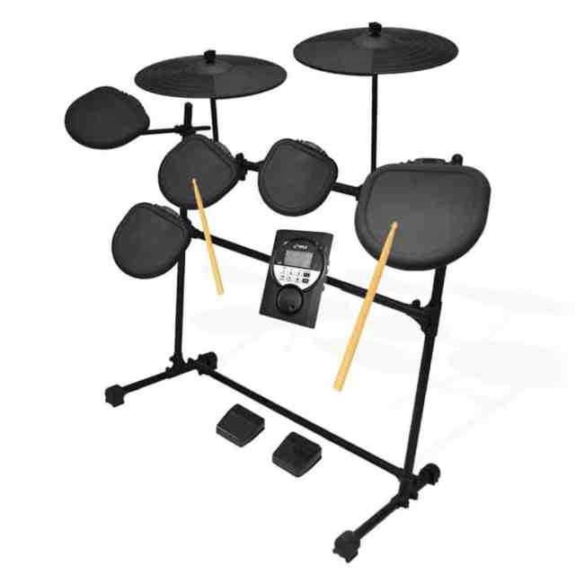 Pyle Pro 9 Piece Electronic Drums Set - Electric Drum Kit