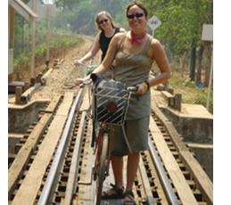 Walking over the Bridge Over the River Kwai