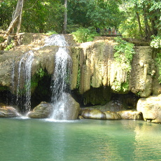 Erawan Falls is perfect for cooling off on a hot day.