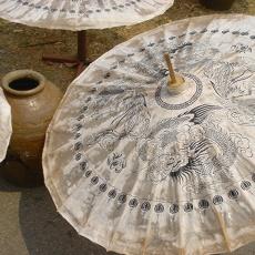 Intricate silk umbrellas in Bo Sang Village, Chiang Mai