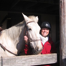 One last cuddle with this wonderful equine.