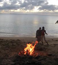 Nightly fire on Uoleva beach