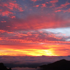 The day begins in Hawaii at Haleakala National Park