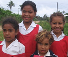 One last photo of the gorgeous schoolgirls in Tonga!