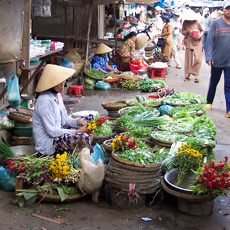 Shopping for our cooking class in Hoi An