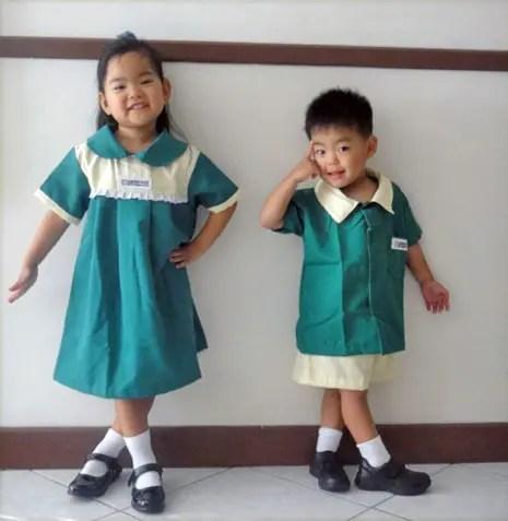セブで通っている幼稚園の制服。